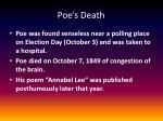 poe s death