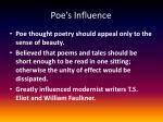 poe s influence