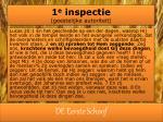 1 e inspectie geestelijke autoriteit