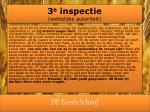 3 e inspectie wettelijke autoriteit