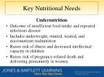 key nutritional needs