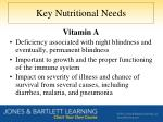 key nutritional needs1