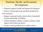 nutrition health and economic development