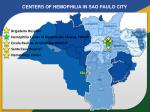 centers of hemophilia in sao paulo city