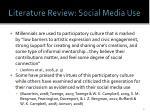 literature review social media use