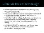 literature review technology