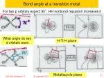 bond angle at a transition metal