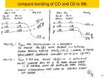 compare bonding of co and o2 to mb