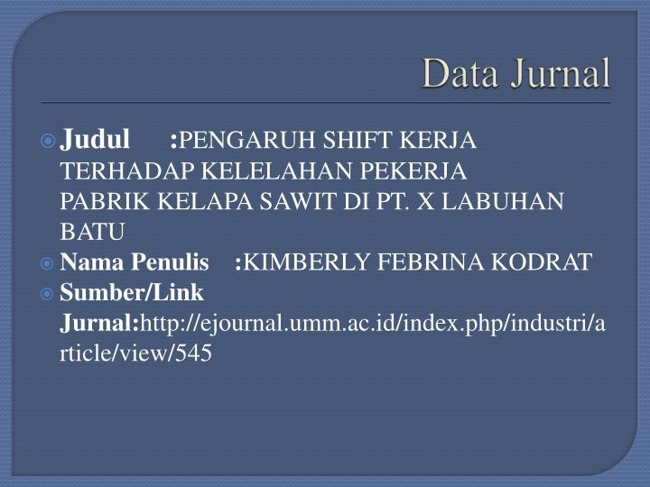 Data jurnal