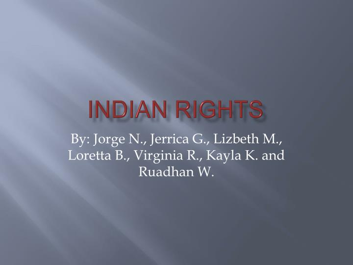 indian rights n.