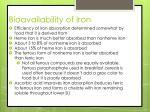 bioavailability of iron1