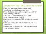 laboratory test tibc and transferrin