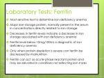 laboratory tests ferritin