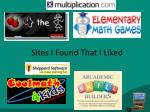 sites i found that i liked