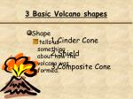 3 basic volcano shapes