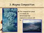 3 magma composition