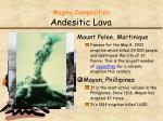 magma composition andesitic lava2
