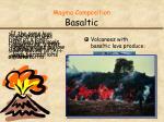 magma composition basaltic1