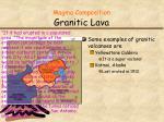 magma composition granitic lava1