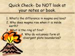 quick check do not look at your notes or book