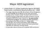 major aids legislation