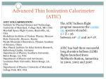 advanced thin ionization calorimeter atic