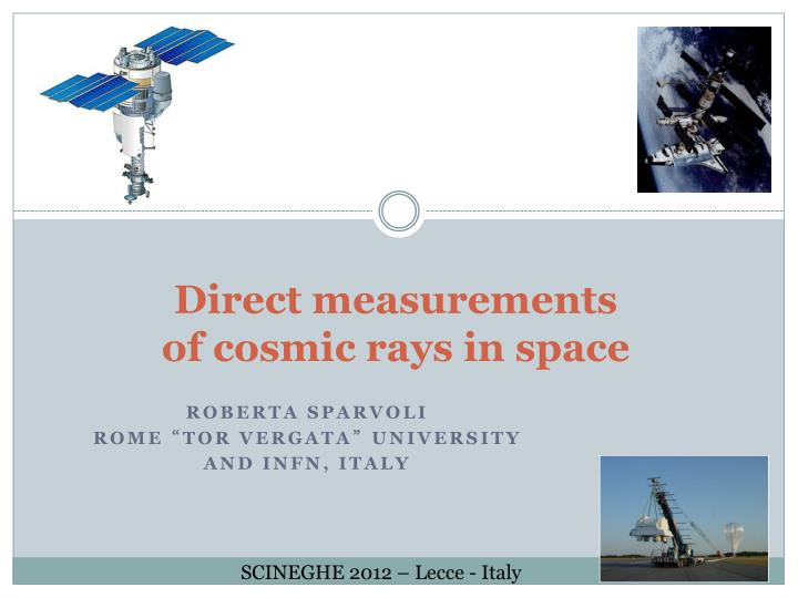 direct measurements of cosmic rays in space n.