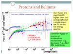 protons and heliums