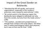 impact of the great slander on bolsheviks