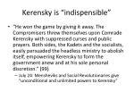 kerensky is indispensible