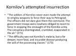 kornilov s attempted insurrection