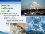 eruptions landforms materials1