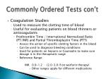 commonly ordered tests con t1