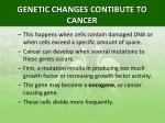 genetic changes contibute to cancer1