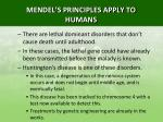 mendel s principles apply to humans6