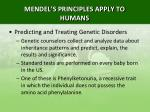 mendel s principles apply to humans9