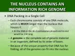 the nucleus contains an information rich genome