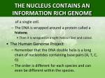 the nucleus contains an information rich genome1