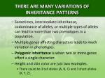 there are many variations of inheritance patterns5