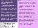 reflection conformity