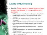 levels of questioning1