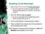 reading circle meetings