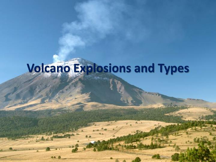 volcano explosions and types n.