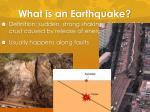 what is an earthquake