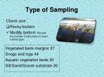 type of sampling