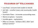 hazards of volcanoes