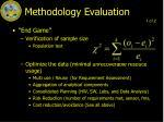 methodology evaluation