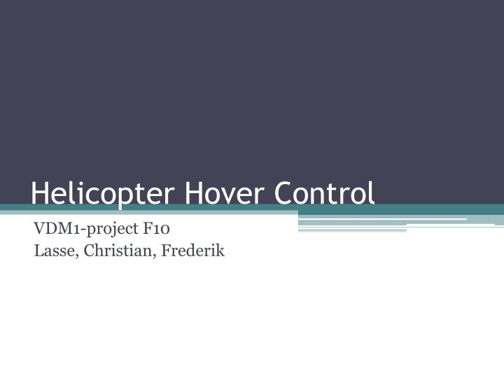 helicopter hover control n.