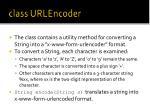 class urlencoder