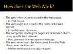 how does the web work